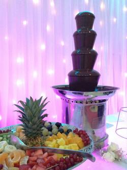 buffet dessert fontaine de chocolat