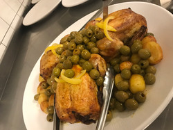 poulet olives plat