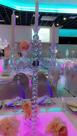 chandelier pied crystal