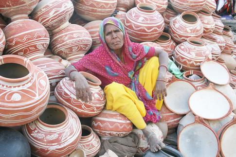 Pot Lady in Jaipur, India