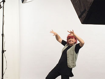 Director/Writer Jane Rosemont dancing on the set
