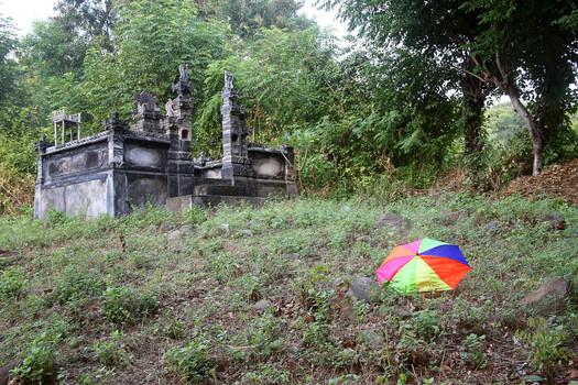 Temple and Umbrella, Amed, Bali