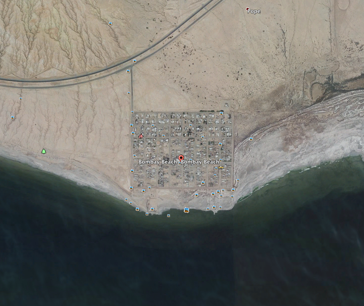 Google Earth view of Bombay Beach