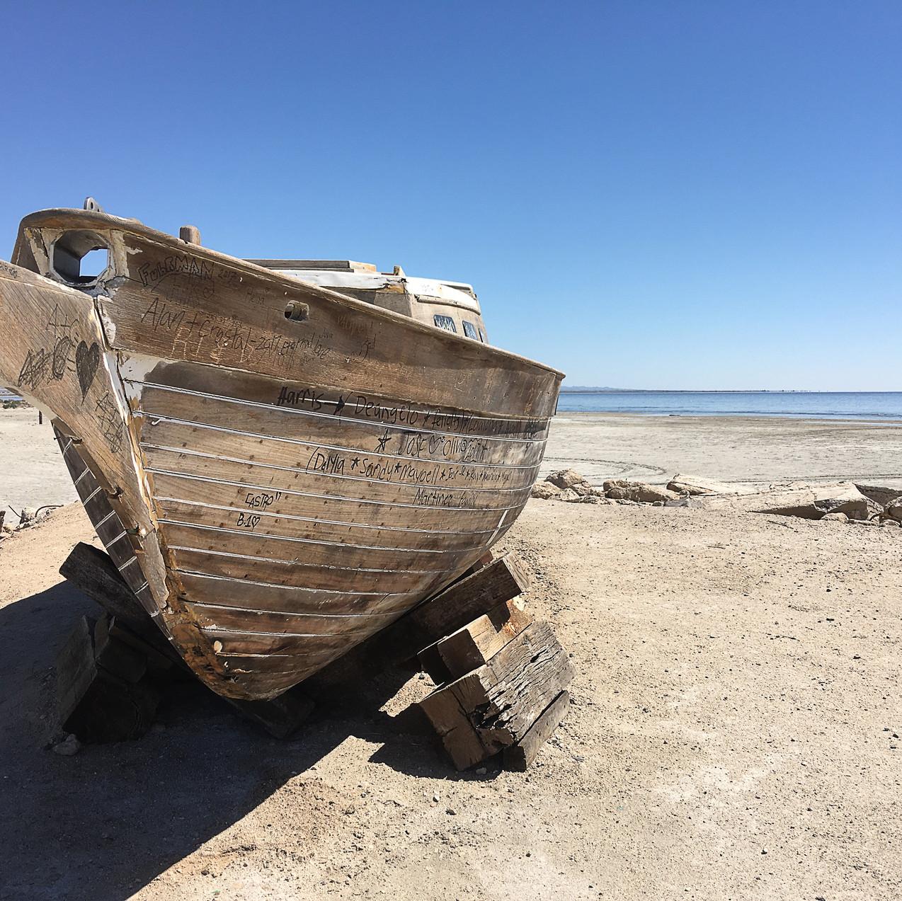 Abandoned boat, Bombay Beach