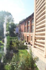 vista giardino e struttura
