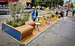 Parklet Valencia Street San Francisco