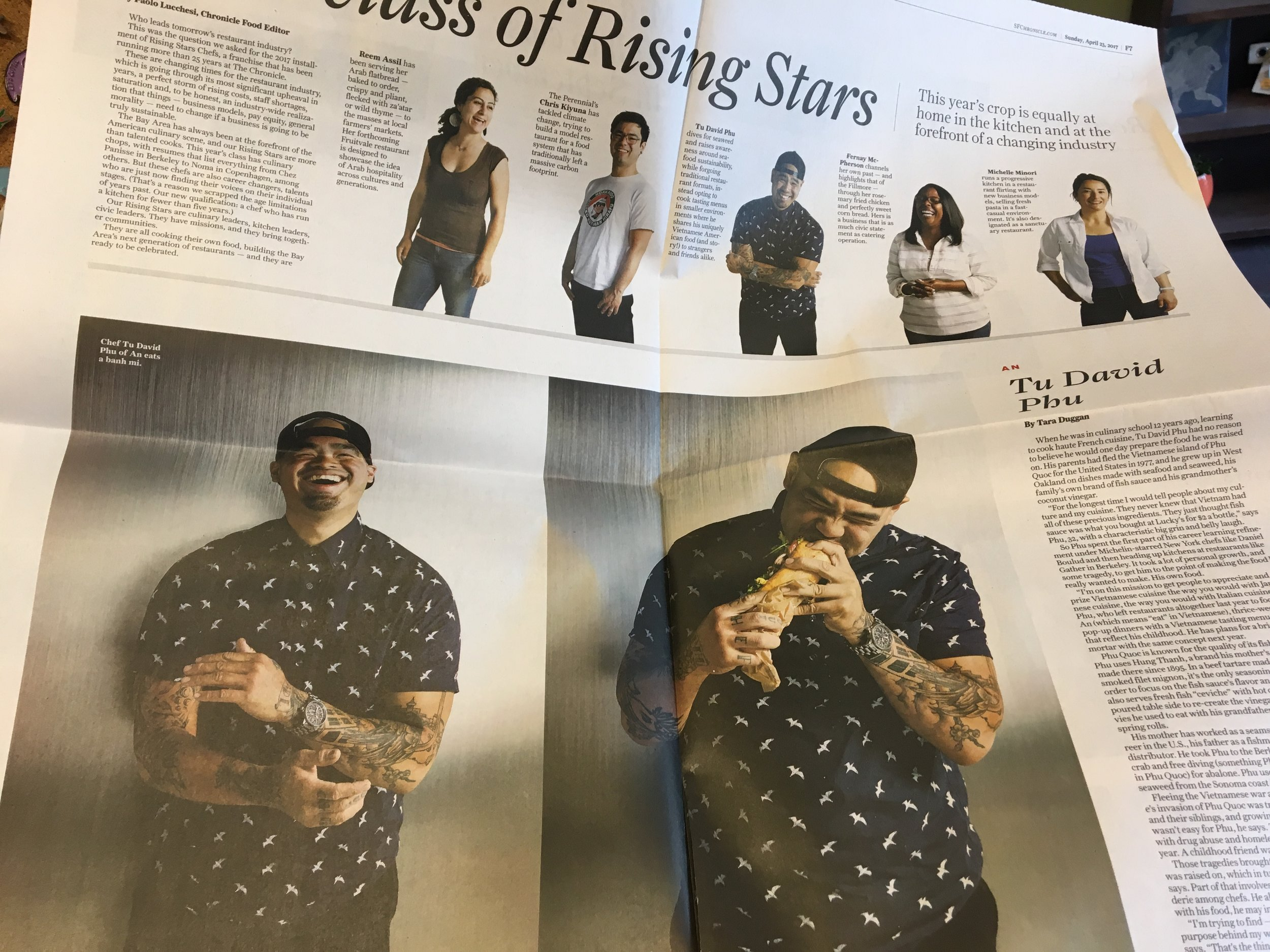 San Francisco Chronicle Rising Start Chefs