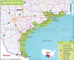 Coastline of Texas
