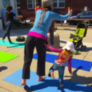 Good Elephant | Mom and daughter doing yoga in Midtown Reno, Nevada