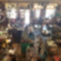 Good Elephant | Comma Coffee shop before yoga begins
