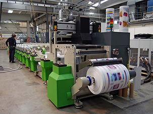 FOUR COLOUR ONLINE PRINTING MAHINE WITH