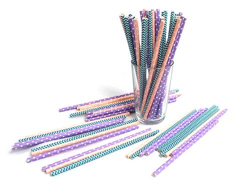 25 Piece Paper Straw