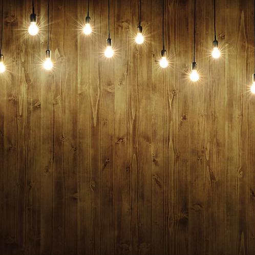 Wood with Lightbulb