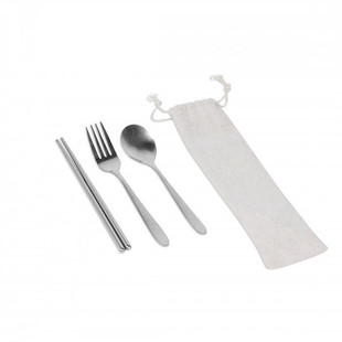 Stainless Steel Cutlery Set in Canvas Po