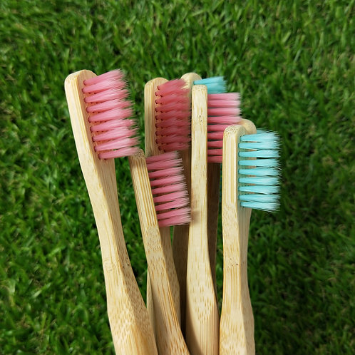 Coloured Natural Bamboo Toothbrush
