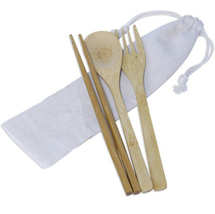 3pcs Bamboo Cutlery Set