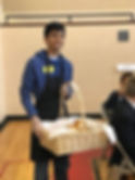 Arnav Volunteering at harvest meal swain