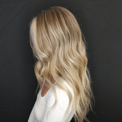 Balayage +babylights Money piece