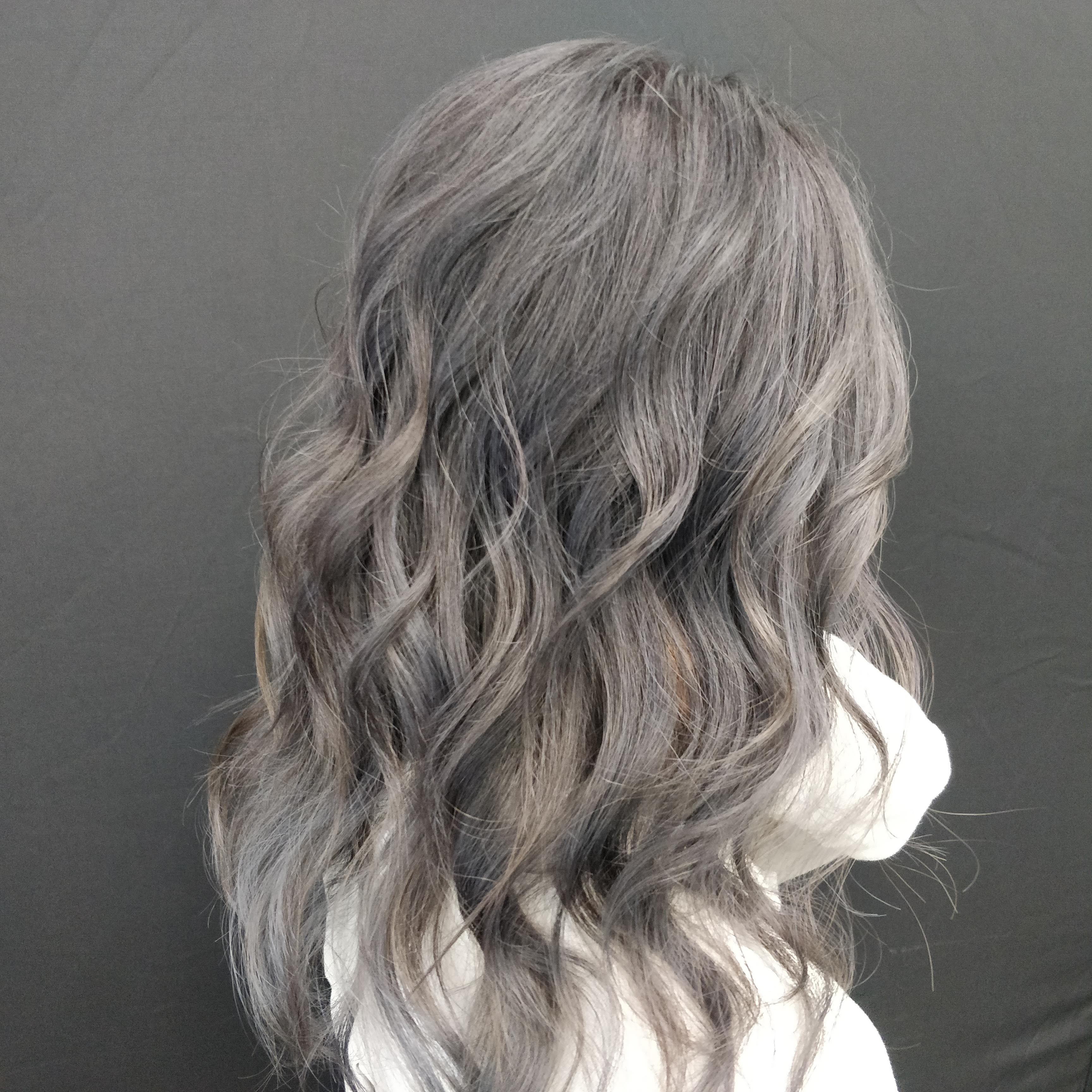 Dark Gray Balayage+babylights