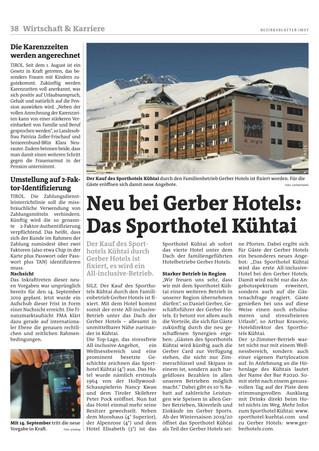 Neu bei Gerber Hotels: Das Sporthotel Kühtai