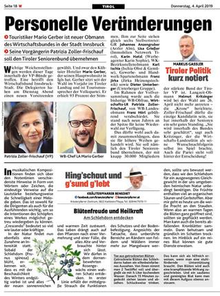 Personelle Veränderungen, Tiroler Politik kurz notiert