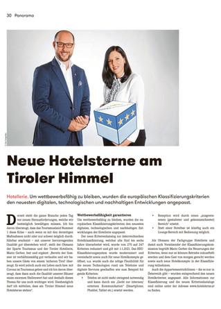 Neue Hotelsterne am Tiroler Himmel