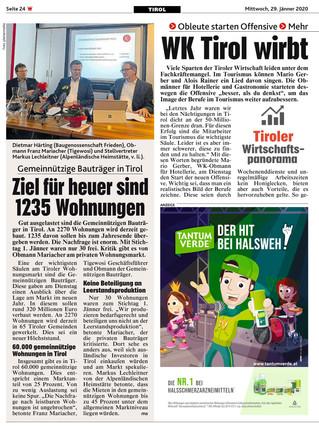 WK Tirol wirbt für die Lehre