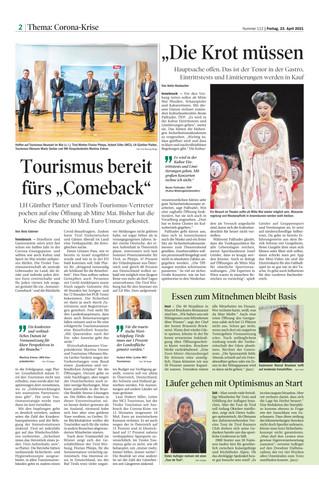 Tourismus bereit fürs Comeback