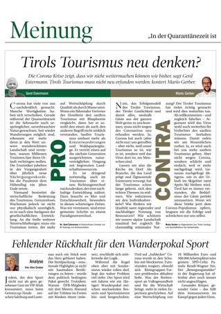 Tirols Tourismus neu denken?