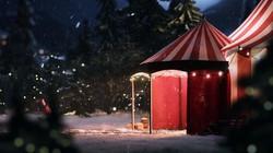 Aldi Christmas tent miniature