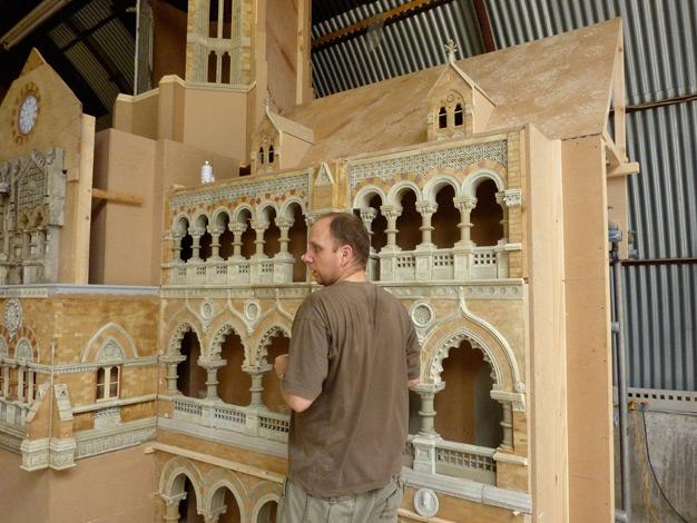 Miniature model maker Steve Scott