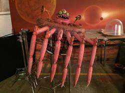 Alien action prop making for B Bank
