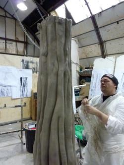 Sculptor Ben Philips at Bray Studios
