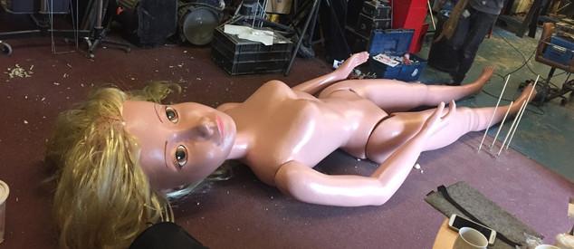 Giant barbie custom built prop sculpture for artist's photography