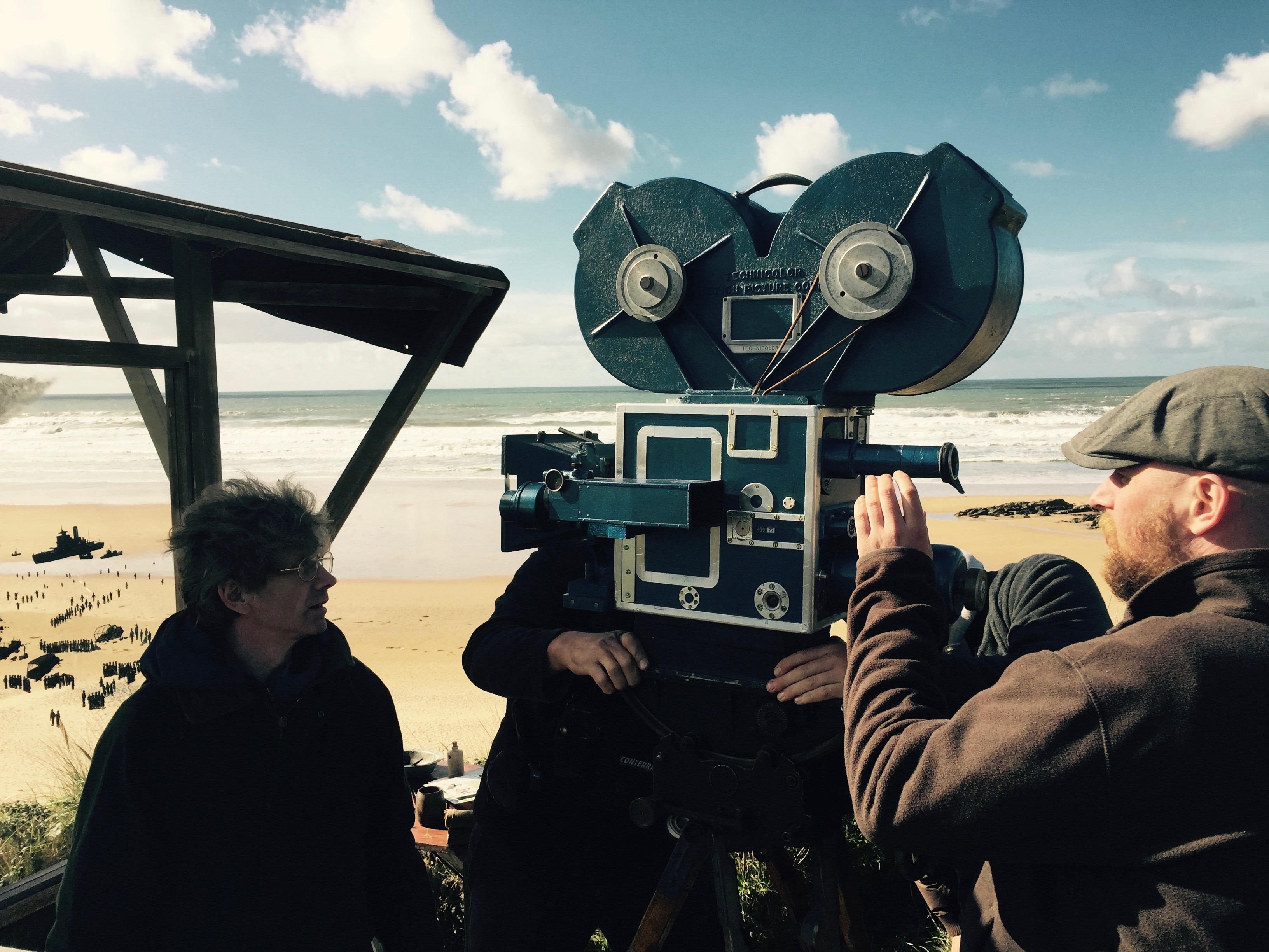 Prop Technicolor camera on set