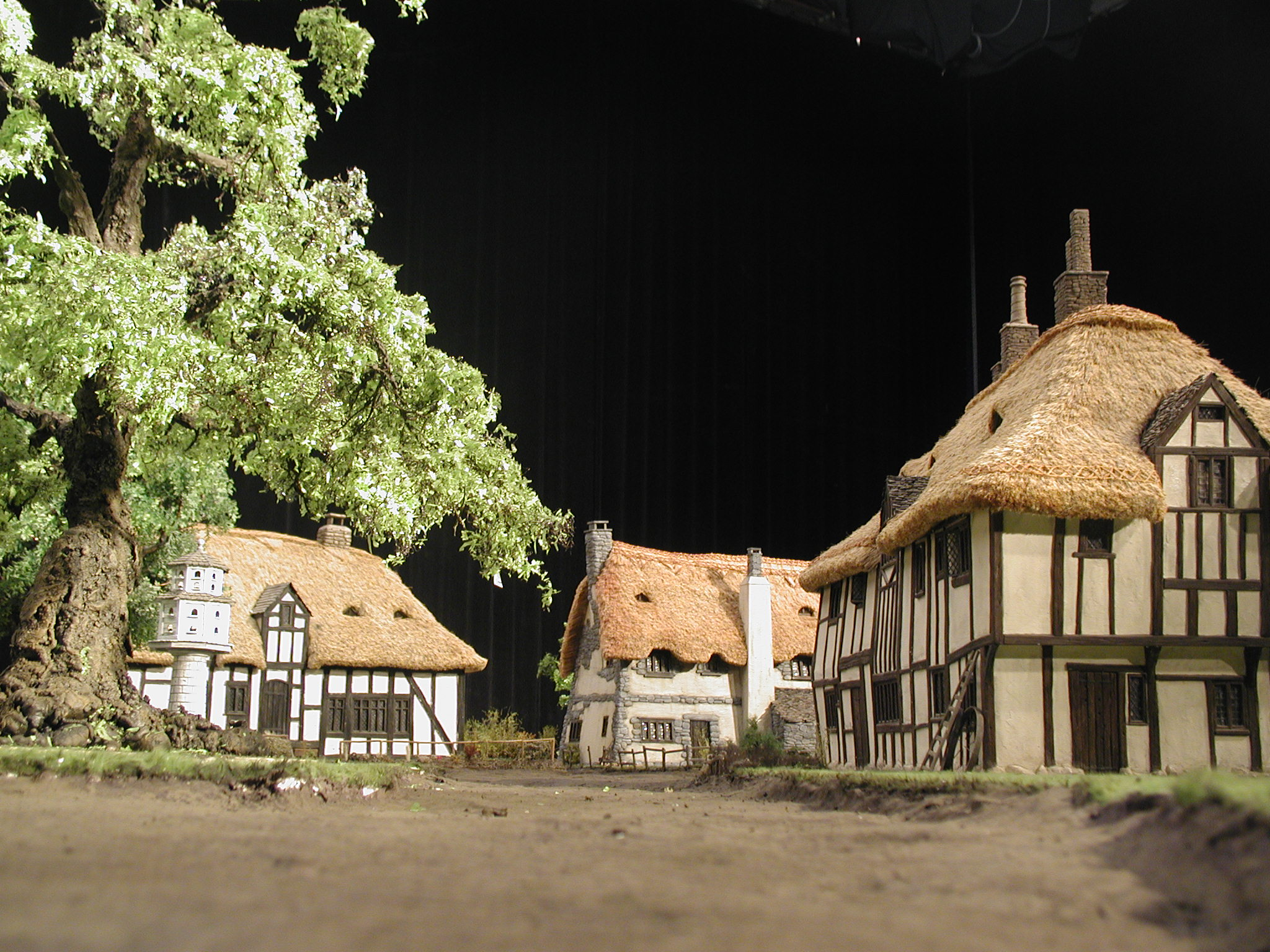 Miniature model village set