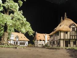 Miniature model village set