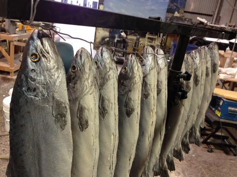Custom made prop salmon