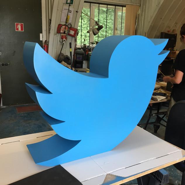 Twitter bird event prop