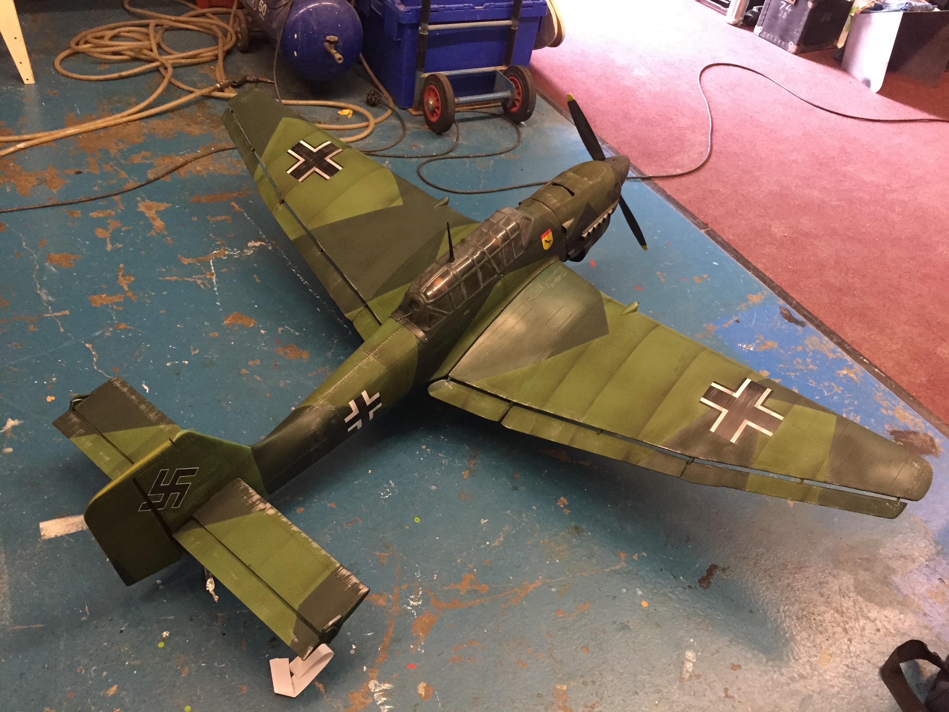 Model Making Stuka Bomber