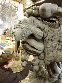 Fabrication and sculpture of Winter