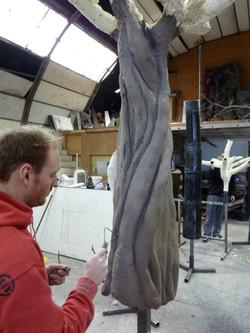 Sculptor Tom Power at Bray Studios