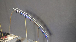 Model making test rollercoaster trac