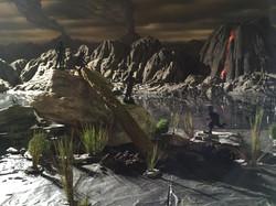 Miniature model spacescape