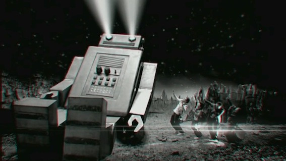 ROBOT AND SPACE SCAPE MINIATURE