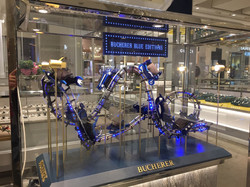 Rollercoaster model on display