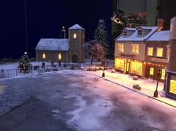 Aldi village square scale model set
