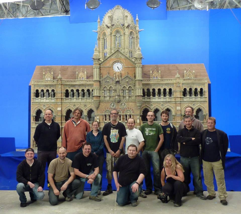 Model makers with their Miniature FX work - Ra. One