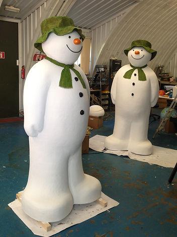 Fabrication of snowman installation Emirates Air Line