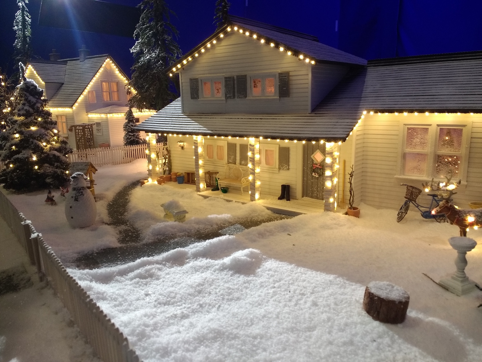 Miniature model set for CGI animation